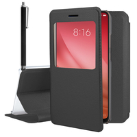 "Xiaomi Mi 8 Pro/ Mi 8 Explorer 6.21"" (non compatible Xiaomi Mi 8 SE 5.88""/ Mi 8 Lite 6.26""/ Mi 8 Youth (Mi 8X)): Etui View Case Flip Folio Leather cover + Stylet - NOIR"