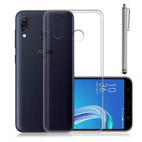 """Asus Zenfone Max Pro (M1) ZB601KL/ ZB602KL 5.99"""" (non compatible Zenfone Max Plus (M1) ZB570TL/ Zenfone Max (M1) ZB555KL/ ZB556KL): Accessoire Housse Etui Coque gel UltraSlim et Ajustement parfait + Stylet - TRANSPARENT"""