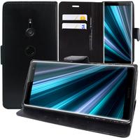 """Sony Xperia XZ3/ XZ3 DUAL SIM 6.0"""": Accessoire Etui portefeuille Livre Housse Coque Pochette support vidéo cuir PU - NOIR"""