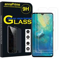"""Huawei Mate 20 6.53"""" HMA-L09/ HMA-L29 (non compatible Mate 20 lite/ Mate 20 Pro/ Mate 20 X): Lot / Pack de 2 Films de protection d'écran Verre Trempé"""