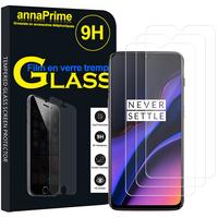 """OnePlus 6T 6.41"""" A6010 A6013 (non compatible OnePlus 6 6.28"""") [Les Dimensions EXACTES du telephone: 157.5 x 74.8 x 8.2 mm]: Lot / Pack de 3 Films de protection d'écran Verre Trempé"""