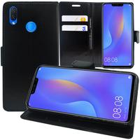 """Huawei P Smart+/ P Smart Plus/ Nova 3i 6.3"""" INE-LX1/ LX2/ L21 (non compatible Huawei P smart 5.65""""/ Nova 5.0""""/ Nova 3): Accessoire Etui portefeuille Livre Housse Coque Pochette support vidéo cuir PU - NOIR"""