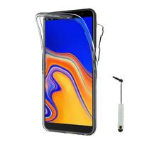 """Samsung Galaxy J6+/ J6 Plus (2018) 6.0"""" (non compatible Galaxy J6 (2018) 5.6"""") [Les Dimensions EXACTES du telephone: 161.4 x 76.9 x 7.9 mm]: Coque Housse Silicone Gel TRANSPARENTE ultra mince 360° protection intégrale Avant et Arrière + mini Stylet - T"""