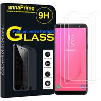 """Samsung Galaxy J8 (2018) 6.0"""" J810F/DS J810G/DS J810Y/DS [Les Dimensions EXACTES du telephone: 159.2 x 75.7 x 8.2 mm]: Lot / Pack de 3 Films de protection d'écran Verre Trempé"""