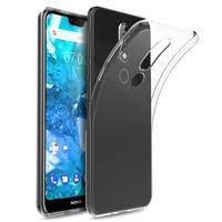 """Nokia 7.1 (2018) 5.84"""" (non compatible Nokia 7.1 Plus 6.18""""/ Nokia 7 5.2"""") [Les Dimensions EXACTES du telephone: 149.7 x 71.2 x 8 mm]: Accessoire Housse Etui Coque gel UltraSlim et Ajustement parfait - TRANSPARENT"""