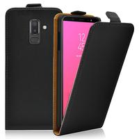 """Samsung Galaxy J8 (2018) 6.0"""" J810F/DS J810G/DS J810Y/DS [Les Dimensions EXACTES du telephone: 159.2 x 75.7 x 8.2 mm]: Accessoire Housse Coque Pochette Etui protection vrai cuir à rabat vertical - NOIR"""