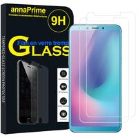 "Samsung Galaxy A6S (2018) 6.0"" SM-G6200 (non compatible Galaxy A6 (2018) 5.6""/ Galaxy A6+ 6.0""): Lot / Pack de 2 Films de protection d'écran Verre Trempé"