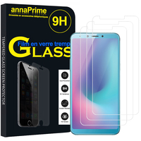"Samsung Galaxy A6S (2018) 6.0"" SM-G6200 (non compatible Galaxy A6 (2018) 5.6""/ Galaxy A6+ 6.0""): Lot / Pack de 3 Films de protection d'écran Verre Trempé"