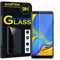 """Samsung Galaxy A7 (2018) 6.0"""" SM-A750F (non compatible Version 2014/ 2015/ 2016/ 2017): Lot / Pack de 2 Films de protection d'écran Verre Trempé"""