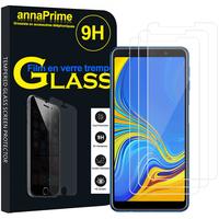 """Samsung Galaxy A7 (2018) 6.0"""" SM-A750F (non compatible Version 2014/ 2015/ 2016/ 2017): Lot / Pack de 3 Films de protection d'écran Verre Trempé"""