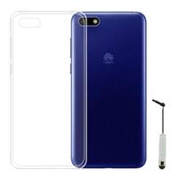 """Huawei Y5 Lite (2018) 5.45"""" DRA-LX5 [Les Dimensions EXACTES du telephone: 146.5 x 70.9 x 8.3 mm]: Accessoire Housse Etui Coque gel UltraSlim et Ajustement parfait + mini Stylet - TRANSPARENT"""