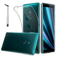 """Sony Xperia XZ3/ XZ3 DUAL SIM 6.0"""": Accessoire Housse Etui Coque gel UltraSlim et Ajustement parfait + mini Stylet - TRANSPARENT"""