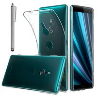 """Sony Xperia XZ3/ XZ3 DUAL SIM 6.0"""": Accessoire Housse Etui Coque gel UltraSlim et Ajustement parfait + Stylet - TRANSPARENT"""