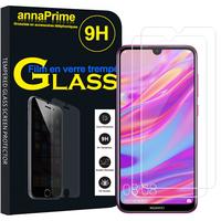 """Huawei Enjoy 9 6.26"""" DUB-AL00/ DUB-AL20/ DUB-TL00 (non compatible Huawei Enjoy 9 Plus 6.5""""): Lot / Pack de 2 Films de protection d'écran Verre Trempé"""