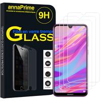 """Huawei Enjoy 9 6.26"""" DUB-AL00/ DUB-AL20/ DUB-TL00 (non compatible Huawei Enjoy 9 Plus 6.5""""): Lot / Pack de 3 Films de protection d'écran Verre Trempé"""