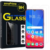 """Oppo F9/ F9 Pro 6.3"""" CPH1823/ CPH1828/ CPH1881 [Les Dimensions EXACTES du telephone: 156.7 x 74 x 8 mm]: Lot / Pack de 2 Films de protection d'écran Verre Trempé"""