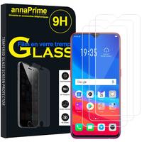 """Oppo F9/ F9 Pro 6.3"""" CPH1823/ CPH1828/ CPH1881 [Les Dimensions EXACTES du telephone: 156.7 x 74 x 8 mm]: Lot / Pack de 3 Films de protection d'écran Verre Trempé"""
