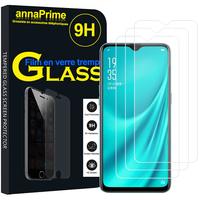 """Oppo R15X 6.4"""" PBCM10 [Les Dimensions EXACTES du telephone: 158.3 x 75.5 x 7.4 mm]: Lot / Pack de 3 Films de protection d'écran Verre Trempé"""