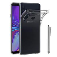 "Samsung Galaxy A9 (2018) 6.3"" SM-A920F/ Galaxy A9S/ A9 Star Pro (non compatible Galaxy A9 (2016) 6.0""): Accessoire Housse Etui Coque gel UltraSlim et Ajustement parfait + Stylet - TRANSPARENT"