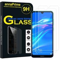 """Huawei Y7 Prime (2019) 6.26"""" DUB-LX1 DUB-LX3 (non compatible Huawei Y7 Prime (2018) 5.99""""): Lot / Pack de 2 Films de protection d'écran Verre Trempé"""