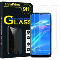 """Huawei Y7 Prime (2019) 6.26"""" DUB-LX1 DUB-LX3 (non compatible Huawei Y7 Prime (2018) 5.99""""): Lot / Pack de 3 Films de protection d'écran Verre Trempé"""