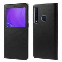 "Samsung Galaxy A9 (2018) 6.3"" SM-A920F/ Galaxy A9S/ A9 Star Pro (non compatible Galaxy A9 (2016) 6.0""): Etui View Case Flip Folio Leather cover - NOIR"