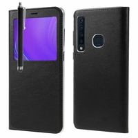 "Samsung Galaxy A9 (2018) 6.3"" SM-A920F/ Galaxy A9S/ A9 Star Pro (non compatible Galaxy A9 (2016) 6.0""): Etui View Case Flip Folio Leather cover + Stylet - NOIR"