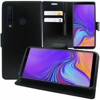 "Samsung Galaxy A9 (2018) 6.3"" SM-A920F/ Galaxy A9S/ A9 Star Pro (non compatible Galaxy A9 (2016) 6.0""): Accessoire Etui portefeuille Livre Housse Coque Pochette support vidéo cuir PU - NOIR"