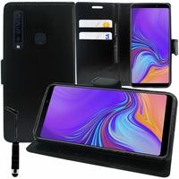 "Samsung Galaxy A9 (2018) 6.3"" SM-A920F/ Galaxy A9S/ A9 Star Pro (non compatible Galaxy A9 (2016) 6.0""): Accessoire Etui portefeuille Livre Housse Coque Pochette support vidéo cuir PU + mini Stylet - NOIR"