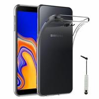 """Samsung Galaxy J4+/ J4 Plus (2018) 6.0"""" (non compatible Galaxy J4 5.5"""") [Les Dimensions EXACTES du telephone: 161.4 x 76.9 x 7.9 mm]: Accessoire Housse Etui Coque gel UltraSlim et Ajustement parfait + mini Stylet - TRANSPARENT"""