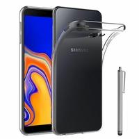 """Samsung Galaxy J4+/ J4 Plus (2018) 6.0"""" (non compatible Galaxy J4 5.5"""") [Les Dimensions EXACTES du telephone: 161.4 x 76.9 x 7.9 mm]: Accessoire Housse Etui Coque gel UltraSlim et Ajustement parfait + Stylet - TRANSPARENT"""