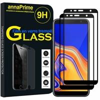"""Samsung Galaxy J4+/ J4 Plus (2018) 6.0"""" (non compatible Galaxy J4 5.5"""") [Les Dimensions EXACTES du telephone: 161.4 x 76.9 x 7.9 mm]: Lot / Pack de 2 Films de protection d'écran Verre Trempé"""
