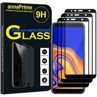 """Samsung Galaxy J4+/ J4 Plus (2018) 6.0"""" (non compatible Galaxy J4 5.5"""") [Les Dimensions EXACTES du telephone: 161.4 x 76.9 x 7.9 mm]: Lot / Pack de 3 Films de protection d'écran Verre Trempé"""