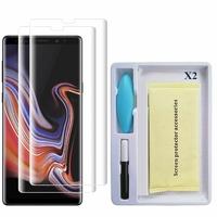 """Samsung Galaxy Note 9 6.4""""/ Note9 Duos SM-N960F/ SM-N960U/ SM-N960F/DS: Lot/ Pack 2 Films de Protection d'écran en Verre trempé Nano incurve?e 3D avec Liquide et Lampe UV"""