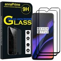 """OnePlus 6T 6.41"""" A6010 A6013 (non compatible OnePlus 6 6.28"""") [Les Dimensions EXACTES du telephone: 157.5 x 74.8 x 8.2 mm]: Lot / Pack de 2 Films de protection d'écran Verre Trempé"""