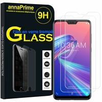 """Asus Zenfone Max Pro (M2) ZB631KL/ ZB630KL 6.26"""" (non compatible Zenfone Max (M2) ZB633KL): Lot / Pack de 2 Films de protection d'écran Verre Trempé"""