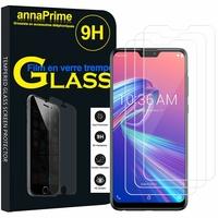"""Asus Zenfone Max Pro (M2) ZB631KL/ ZB630KL 6.26"""" (non compatible Zenfone Max (M2) ZB633KL): Lot / Pack de 3 Films de protection d'écran Verre Trempé"""