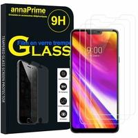 """LG Q9 6.1"""" LM-Q925S/ LM-Q925K/ LM-Q925L [Les Dimensions EXACTES du telephone: 153.2 x 71.9 x 7.9 mm]: Lot / Pack de 3 Films de protection d'écran Verre Trempé"""