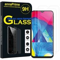 """Samsung Galaxy M10 6.22"""" SM-M105F/ M105F/DS [Les Dimensions EXACTES du telephone: 155.6 x 75.6 x 7.7 mm]: Lot / Pack de 2 Films de protection d'écran Verre Trempé"""