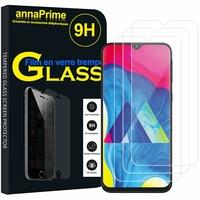 """Samsung Galaxy M10 6.22"""" SM-M105F/ M105F/DS [Les Dimensions EXACTES du telephone: 155.6 x 75.6 x 7.7 mm]: Lot / Pack de 3 Films de protection d'écran Verre Trempé"""