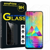 "Samsung Galaxy M20 6.3"" SM-M205F/ M205F/DS [Les Dimensions EXACTES du telephone: 156.4 x 74.5 x 8.8 mm]: Lot / Pack de 3 Films de protection d'écran Verre Trempé"