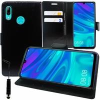 """Huawei P Smart (2019) 6.21"""" POT-LX3/ POT-LX1/ POT-AL00/ POT-LX1AF/ POT-LX2J/ POT-LX1RUA: Accessoire Etui portefeuille Livre Housse Coque Pochette support vidéo cuir PU + mini Stylet - NOIR"""