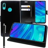 """Huawei P Smart (2019) 6.21"""" POT-LX3/ POT-LX1/ POT-AL00/ POT-LX1AF/ POT-LX2J/ POT-LX1RUA: Accessoire Etui portefeuille Livre Housse Coque Pochette support vidéo cuir PU + Stylet - NOIR"""