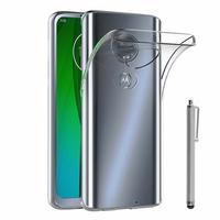 """Motorola Moto G7/ G7 Plus 6.2"""" (non compatible G7 Power/ G7 Play) [Les Dimensions EXACTES du telephone: 157 x 75.3 x 8 mm]: Accessoire Housse Etui Coque gel UltraSlim et Ajustement parfait + Stylet - TRANSPARENT"""