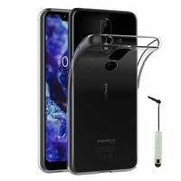 """Nokia 5.1 Plus (2018)/ Nokia X5 TA-1109 5.86"""" (non compatible Nokia 5.1 5.5""""): Accessoire Housse Etui Coque gel UltraSlim et Ajustement parfait + mini Stylet - TRANSPARENT"""