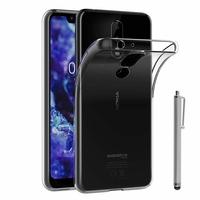 """Nokia 5.1 Plus (2018)/ Nokia X5 TA-1109 5.86"""" (non compatible Nokia 5.1 5.5""""): Accessoire Housse Etui Coque gel UltraSlim et Ajustement parfait + Stylet - TRANSPARENT"""