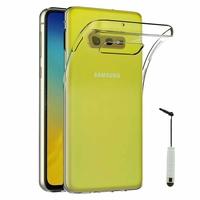 """Samsung Galaxy S10E 5.8""""/ S10E (Essential/ Essentiel) SM-G970F/DS/ SM-G970U/ SM-G970W (non compatible Galaxy S10 5G 6.7""""/ S10+ 6.4""""/ S10 6.1""""): Accessoire Housse Etui Coque gel UltraSlim et Ajustement parfait + mini Stylet - TRANSPARENT"""