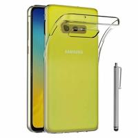"""Samsung Galaxy S10E 5.8""""/ S10E (Essential/ Essentiel) SM-G970F/DS/ SM-G970U/ SM-G970W (non compatible Galaxy S10 5G 6.7""""/ S10+ 6.4""""/ S10 6.1""""): Accessoire Housse Etui Coque gel UltraSlim et Ajustement parfait + Stylet - TRANSPARENT"""