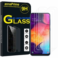 "Samsung Galaxy A50 SM-A505F 6.4"" [Les Dimensions EXACTES du telephone: 158.5 x 74.7 x 7.7 mm]: Lot / Pack de 3 Films de protection d'écran Verre Trempé"