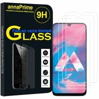 "Samsung Galaxy M30 SM-M305F 6.4"" [Les Dimensions EXACTES du telephone: 159 x 75.1 x 8.4 mm]: Lot / Pack de 3 Films de protection d'écran Verre Trempé"